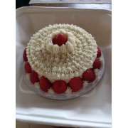SC strawberry 6in cake